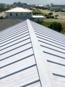 metal roof ridge cap wilmington nc