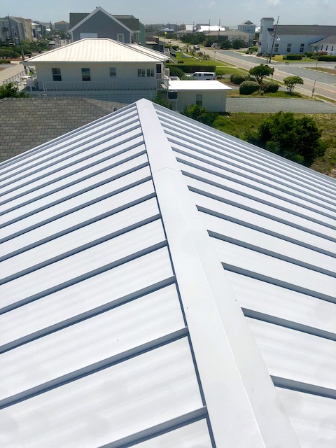 metal roof ridge cap wilmington nc