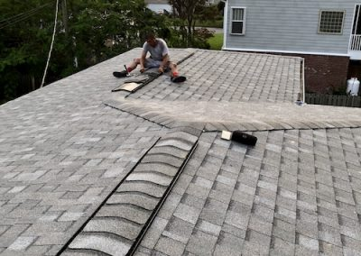 flat asphalt shingle roof installed in wrightsville beach