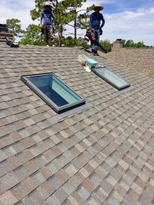 Skylight maintenance on shingle roof in wilmington nc