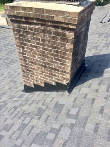 roof maintenance of flashing around chimney in wilmington nc